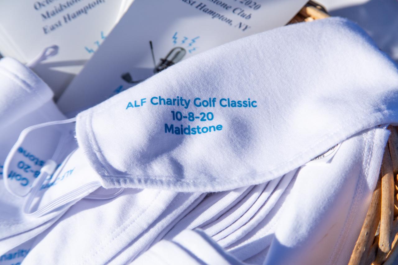 Every golfer gets a mask courtesy of Redvanly