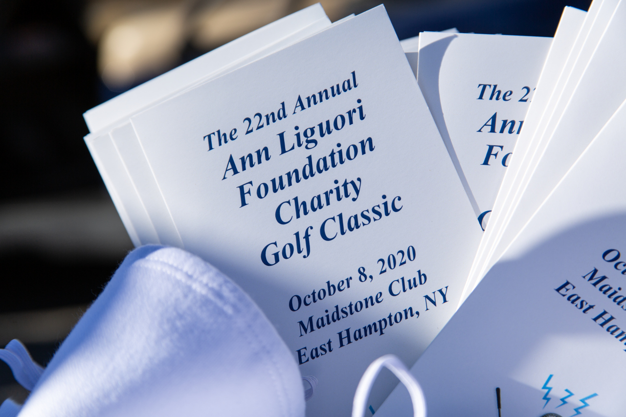 Program for the charity golf tournament, 2020