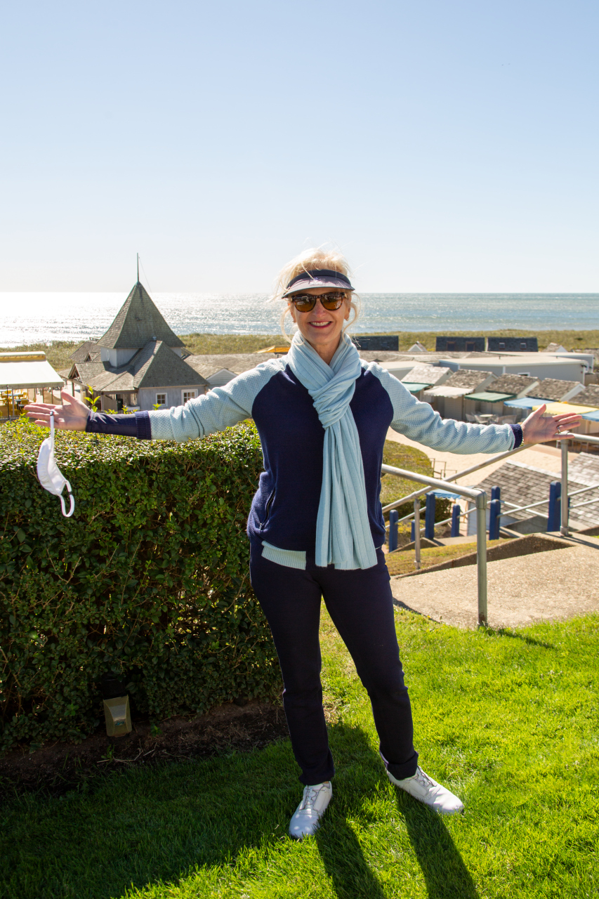 Ann overlooking the gorgeous view from the Maidstone Clubhouse
