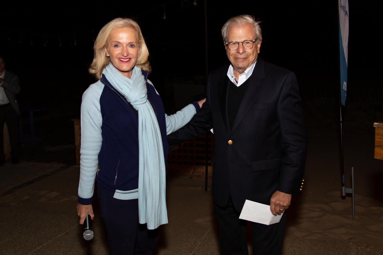 Ann with Dr. Sam Waxman, Samuel Waxman Cancer Research Foundation