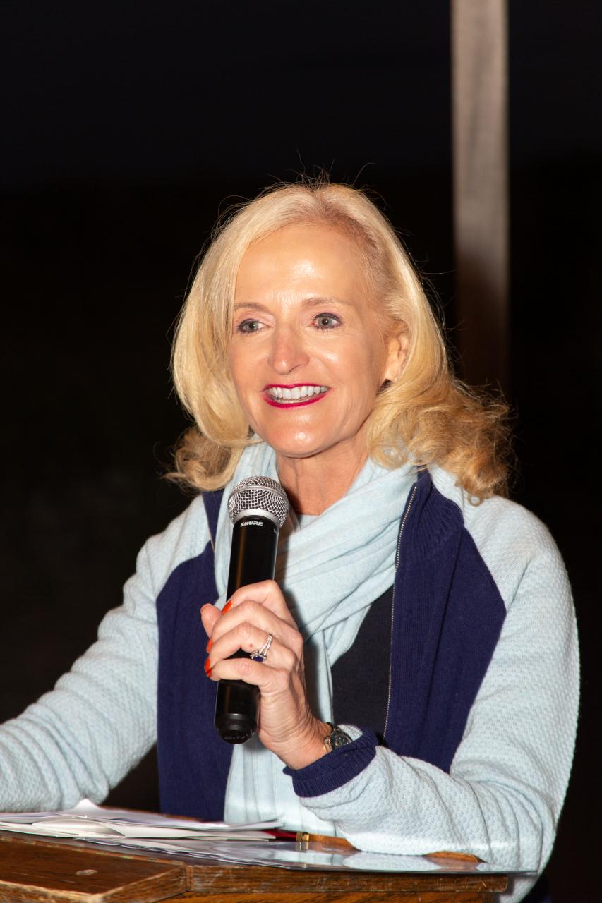 Ann hosting the Award's Dinner