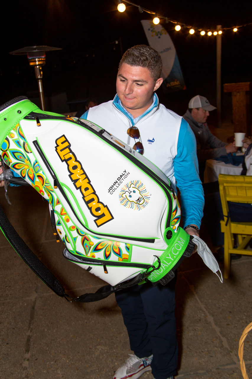 Philip Bicocchi with Loudmouth bag
